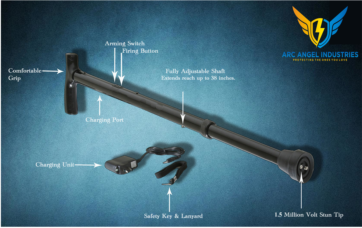 Stun Cane Features Illustrated